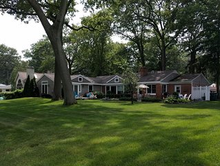 Pet friendly family lake house on spacious lot, with master suite!