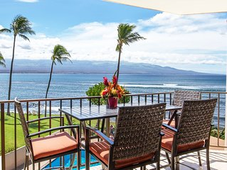 Maui Savings! Prime Ocean Front! A/C bedrooms (sleep comfortable)*Milowai 302*