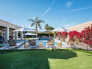 WALK 2 COACHELLA - heated resort style pool+spa+volleyball+firepit+putting green