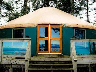 Oceanfront Yurt Vancouver Island