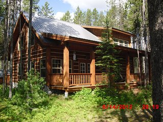 Riverfront cabin adjacent to Glacier National Park