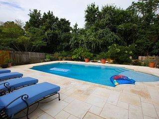 Beautiful home with custom pool near popular nightlife area.