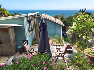 Charming Summerland Beach Cottage with Ocean View...walk to town and beach!