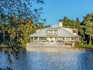 Tropical Palm Island Paradise Over 6 Acres with Secluded Pool and Spa