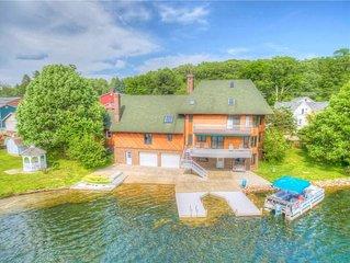 Immaculate & Spacious Lakefront Home Five Miles from Peek'n Peak