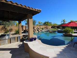 5 Bd House In N. Scottsdale With Resort Style Back Yard With Heated Pool And Spa