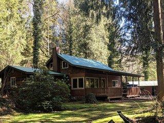 Classic 1925 Salmon Riverfront Cabin