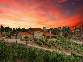 Vino Vento Home On A Hill ~Quiet Minutes From Wineries Entertainment w/ A POOL