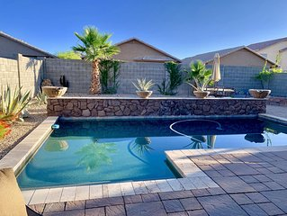3 bedroom + den comfortable rancher w/heated pool in Johnson Ranch