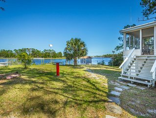 Morning Calm is what you will feel at this Very Nice,  River Front Home.