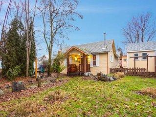 Charming home w/ courtyard, fenced yard, & fireplace - near town!