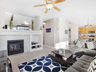 Modern, dog-friendly home w/ fireplace, deck & enclosed yard!