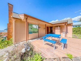 Bayview home w/ a deck overlooking the locally famous Ghost Hole fishing spot!
