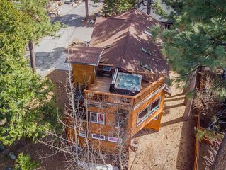Grand home w/ private hot tub, lake views, elevator, Tesla charger - 2 dogs OK!