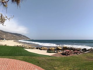 Oceanfront Sandy Point at Solimar Beach right in front of Sand and Surf