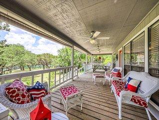 NEW LISTING! Lake Travis waterfront home w/private dock-Near Austin