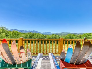 Award winning cabin with mountain views, near Cannon Mountain Ski Area