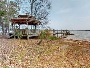 Dog-friendly, waterfront home w/ a private dock & outdoor firepit