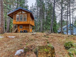 Dog-friendly cabin in the woods w/ a kitchenette & stunning mountain views!