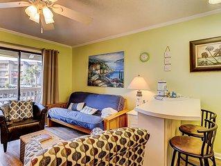 First-floor, oceanfront condo w/ shared pool & tennis - ocean views!