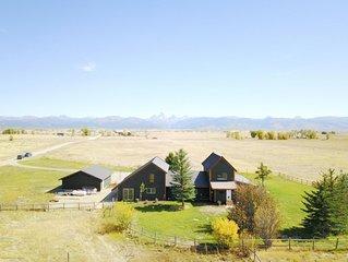 Cache Vista Ranch Large Estate | Sleeps 32 | View of Teton