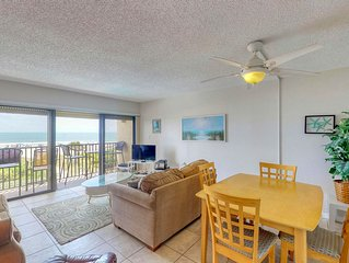 Oceanfront condo w/ balcony & shared pool - steps to the beach!