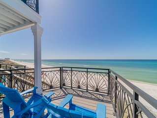 Paradise 30A- Our Blue Bonnet! Beach front! 4 Bikes include and Paddle Board!