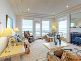 Dog-friendly, waterfront townhouse w/ a private hot tub & striking ocean views!