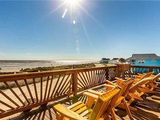 Ocean View: 3 BR / 2.5 BA home in Galveston, Sleeps 14