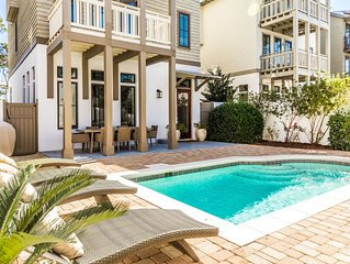 Private Heated Pool! Short Walk To Beach! Access to Rosemary Tennis Courts!