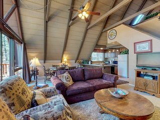 Vintage A-frame cabin nestled within Tall Pines on a serene cul- de-sac!