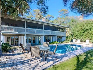 5 bedroom Oceanfront Beach Cottage w/ Pool