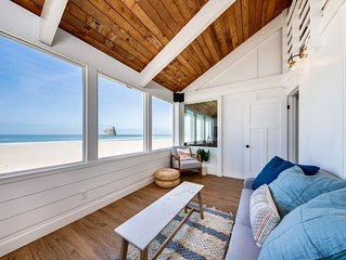 Beautiful beachfront home w/ private hot tub & amazing views - dogs OK!