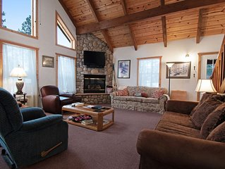 Dog-Friendly Cabin in a Private Location w/ Gas Fireplaces & a Furnished Deck