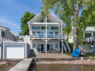 Vacation in this contemporary lakeside cottage on the west side of beautiful Cay