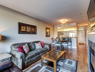 Mountain view condo w/ private balcony and shared indoor pool/hot tub.