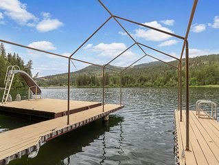Quiet, dog-friendly home with private dock and swimming dock w/slide!