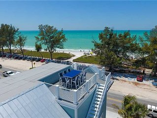 Reduced Rates 25% OFF! Steps from the Beach with Gulf & Bay Views!
