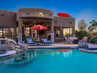 Secluded oasis w/pool, hot tub, roof deck, outdoor kitchen & views