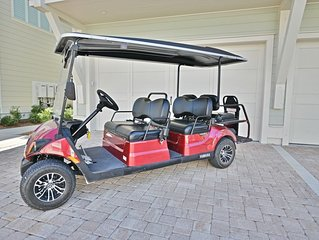 'Sandlot' at Prominence - Six Seater Golf Cart & 4 FREE Bikes