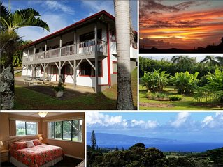 Enhanced Cleaning. Cute, Private & Serene, Ocean Views, A/C. Near Hana Highway.