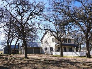 Fredericksburg Manor - beautiful rock home, cottage, 2.4 acres, INDOOR POOL