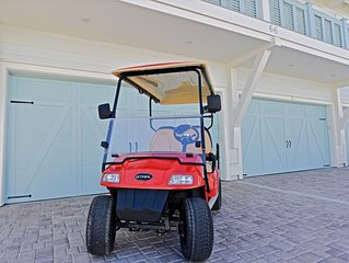 'Seas The Day' at Prominence Golf Cart and 4 Bikes Included in Rental!