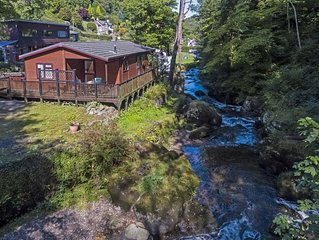 Stunning Riverside 2 Bed Lodge in Exmoor within 10 min walk of Lynton Centre