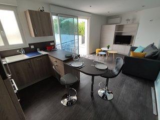Appartement plein centre avec belle terrasse aménagée