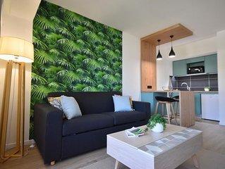 Studio confortable et design, proche de la plage