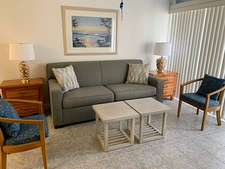 New Listing! Condo with a view of the bay, only 2 blocks from Vanderbilt Beac