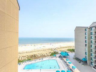 H704: 2BR+den Sea Colony oceanfront condo! Private beach, pools, tennis & more!