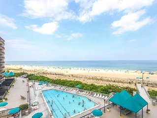 G509: Updated 2BR+den Sea Colony oceanfront condo | Beach, pools, tennis & more!