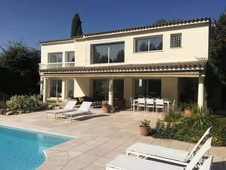 Beautiful, luxury 5 bed villa with heated pool and airconditioning near Biot